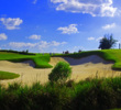 To get an idea of how big the bunkers are at Bella Collina, just look at how small the golfers appear.