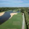 Aerial view of the finishing hole at Hawk's Landing