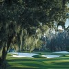 A view of green guarded by bunkers at Isleworth Country Club