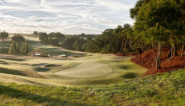 A view of a hole at Bella Collina Golf Club.
