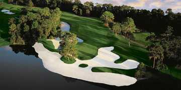A view of the 14th green at Lake Nona Golf &amp; Country Club: aerial view