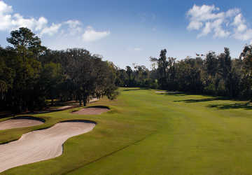 A view of the 12th fairway at Tuscawilla Golf Course
