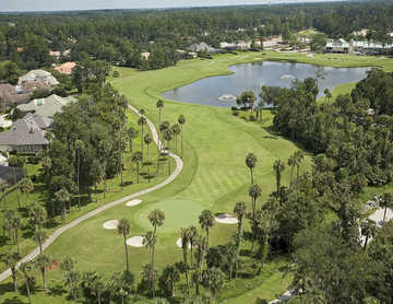 Aerial view of the 1st hole at Alaqua Country Club