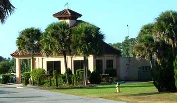 A view of the clubhouse at Lake Orlando Golf Club