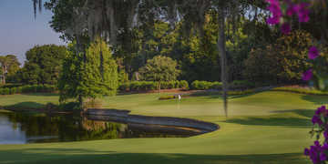 A view of green #12 at Isleworth Country Club