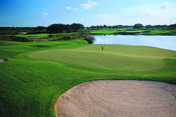 A view of hole #17 at Orange County National - Panther Lake Course