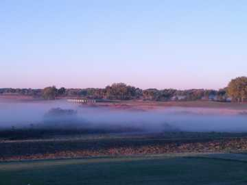 A morning view from Cranes Roost Course at The Plantation Golf Club.