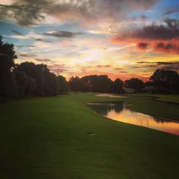 A sunset view from fairway #1 at Sweetwater Country Club.