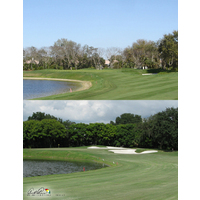 Areas around the perimeter of Bay Hill Club & Lodge's 11th green were smoothed out to introduce pins closer to the greenside bunkers and lake edge.