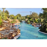 Guests love the lazy rivers and pools of Orange Lake Resort.