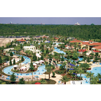 The River Island lazy river winds through Orange Lake Resort in Kissimmee, Florida.
